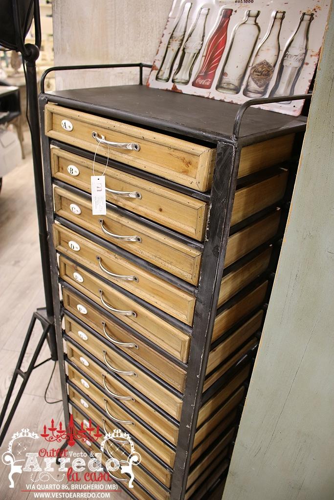 Cassettiera industrial outlet arredamento vesto arredo for Outlet arredamento casa