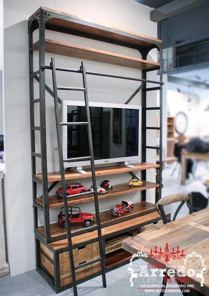 Libreria con scala outlet arredamento vesto arredo la casa for Outlet arredamento casa