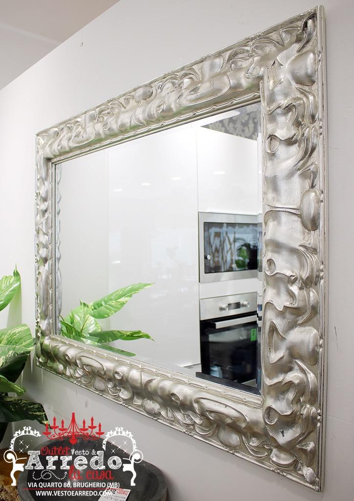 Specchio argento outlet arredamento vesto arredo la casa for Arredamento outlet