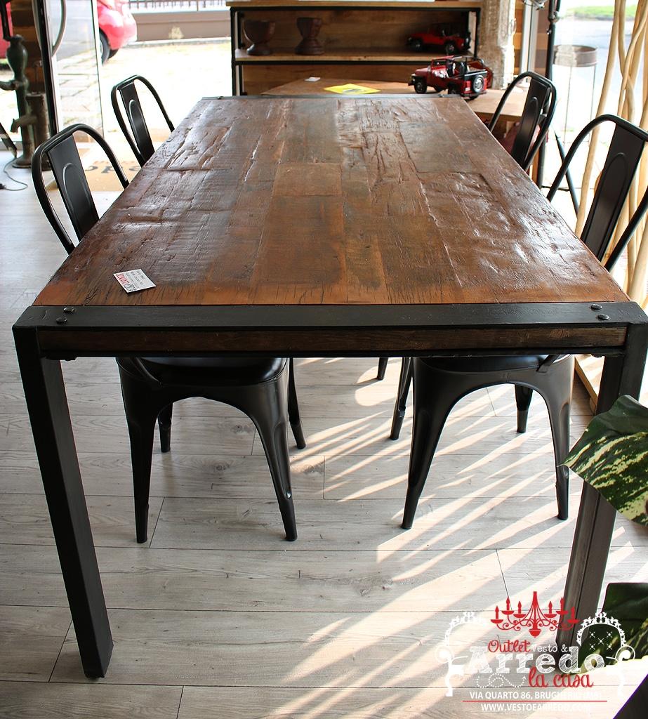 Tavolo ferro e legno ⋆ outlet arredamento Vesto Arredo la Casa