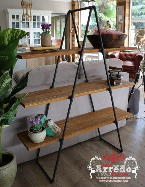 libreria legno ferro
